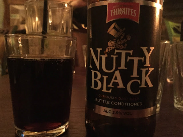 Bottle of nutty black ale