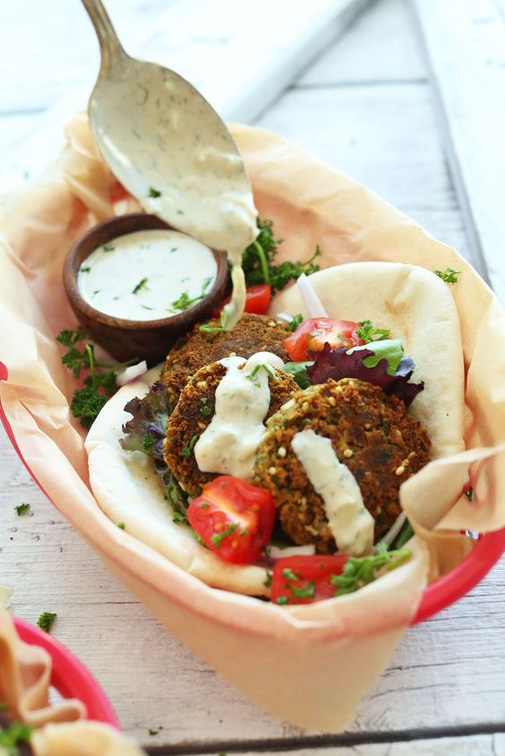 Easy, 10-ingredient falafel made with chickpeas and seasoned with parsley, cumin and garlic. A simple, flavorful, hearty plant-based meal.