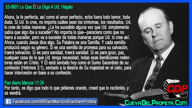 No importa si parece que no sucedera, Crea y sucedera - Citas William Marrion Branham Mensajes