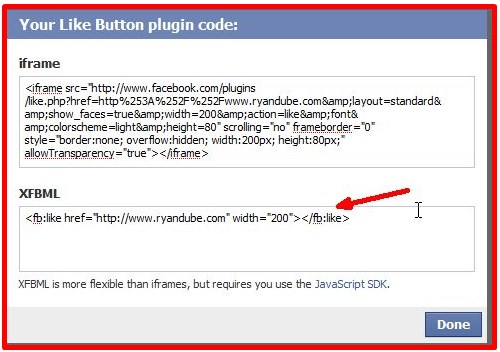 custom facebook share button for website
