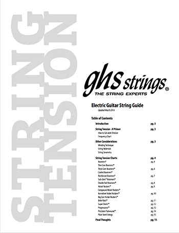 news ghs strings launch updated electric guitar tension charts. Black Bedroom Furniture Sets. Home Design Ideas