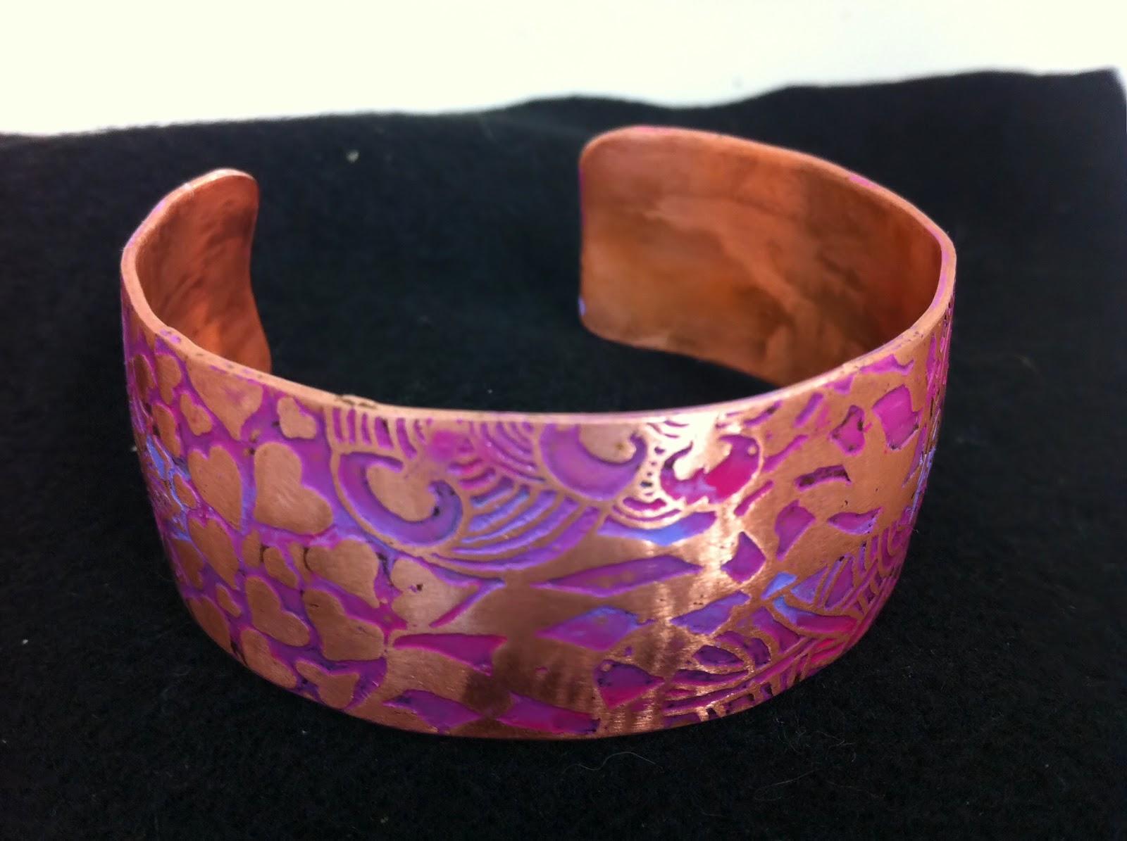 DEBORHREAD.COM: Etched Copper Bracelet