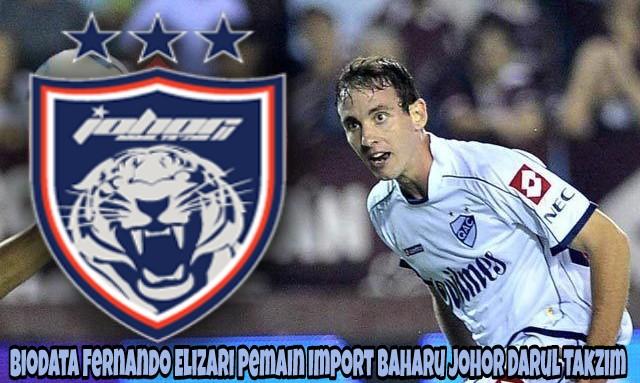Biodata Fernando Elizari Pemain Import Baharu Johor Darul Takzim