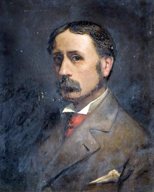 George Warren Blackham, Self Portrait, Portraits of Painters, Fine arts, Portraits of painters blog, Paintings of George Warren, Painter George Warren
