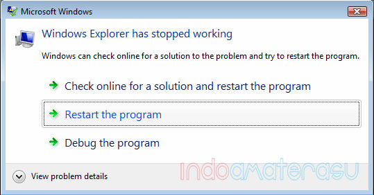 Windows Explorer Has Stoped Working