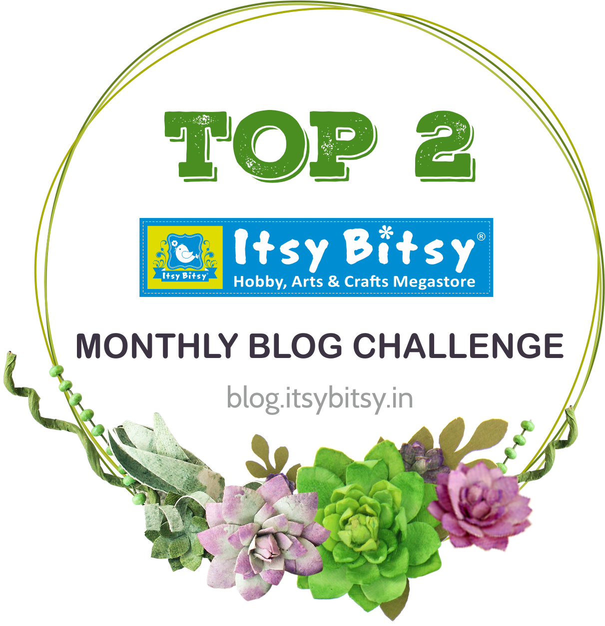Topper at Itsy Bitsy April Challenge