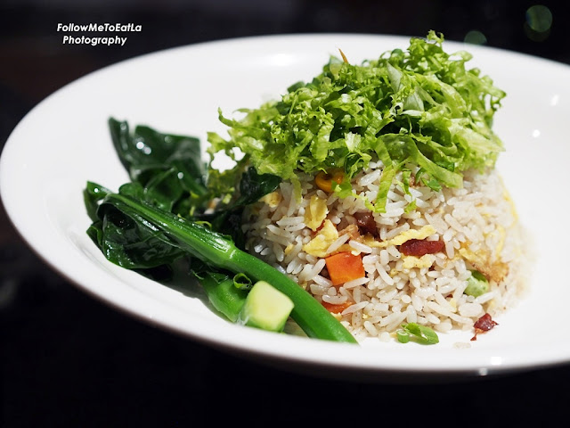 Fried Rice With Barbecued Pork, Prawns & Seasonal Vegetable