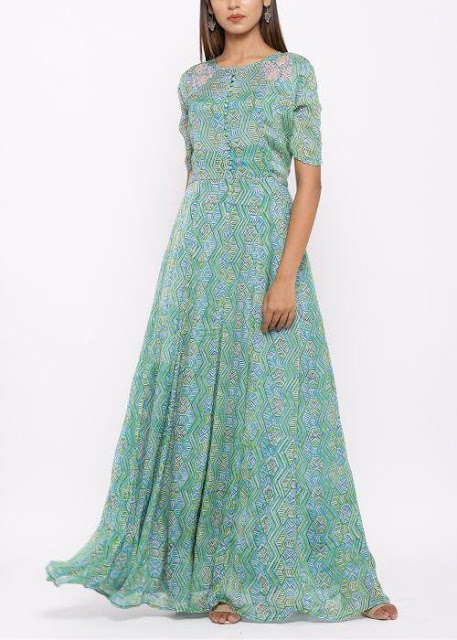 Long Kurti in Gown Style
