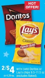 cvs couponers Doritos or Lay's chips cvs deal