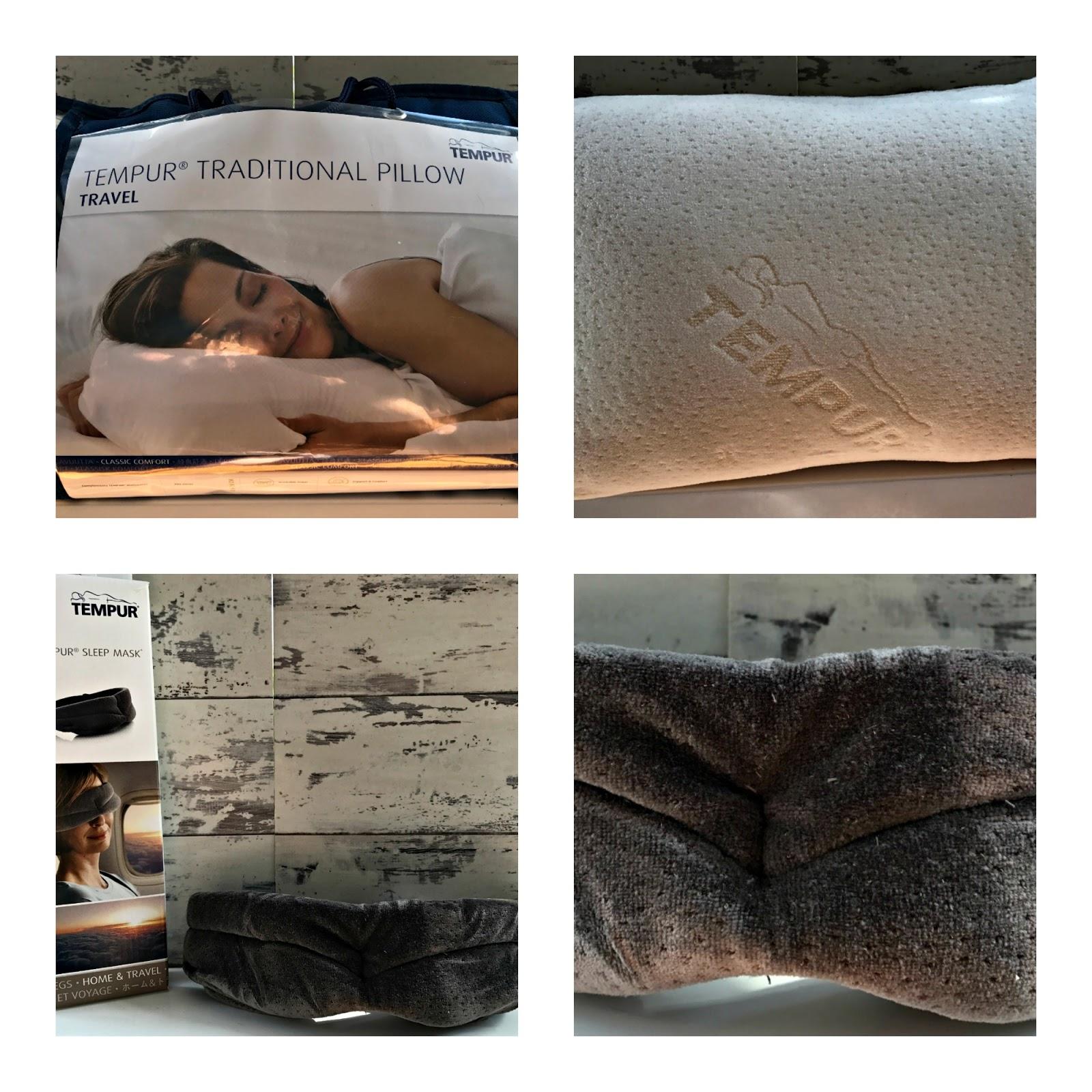 Tempur Comfort Travel Pillow and Sleep Mask