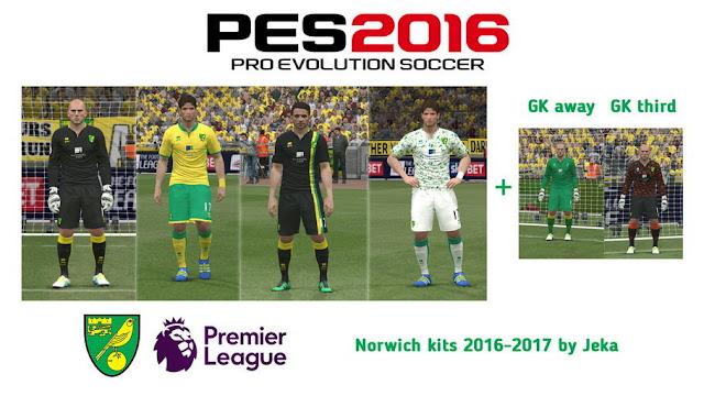 PES 2016 Norwich City Kits Season 2016-2017