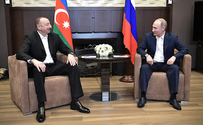 Vladimir Putin held a meeting with President of Azerbaijan Ilham Aliyev.