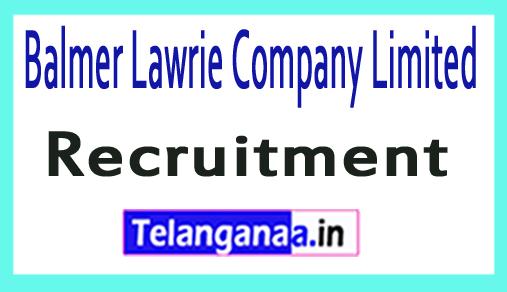 Balmer Lawrie Recruitment Notification