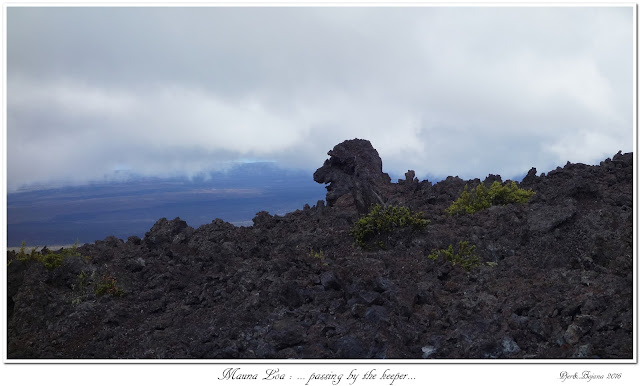 Mauna Loa: ... passing by the keeper...