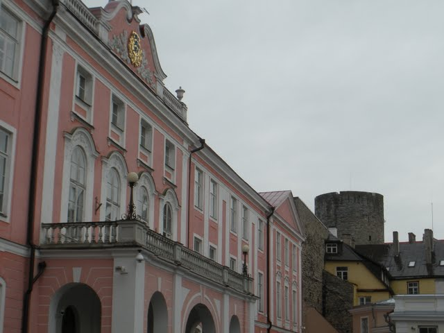 Pink palace in Tallinn, Estonia