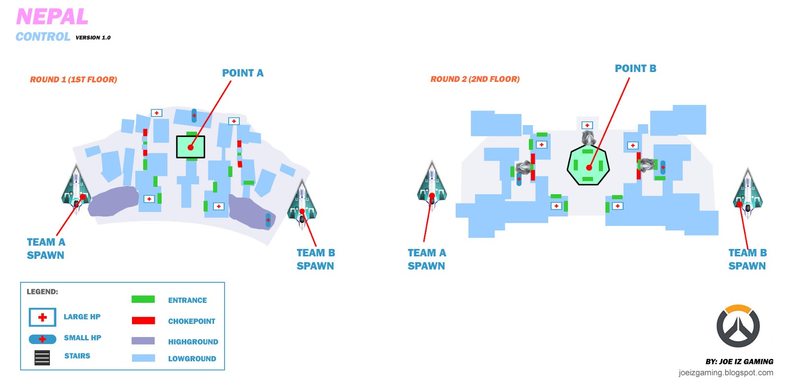 overwatch map layouts