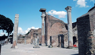 Roman ruins at Ostia Antica