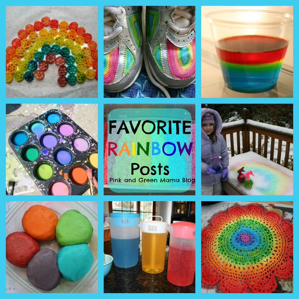 Favorite Rainbow Themed Activities Crafts Snacks And Art Projects Linky Party