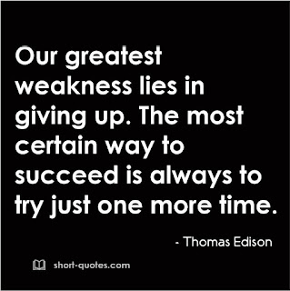 our greatest weakness quote