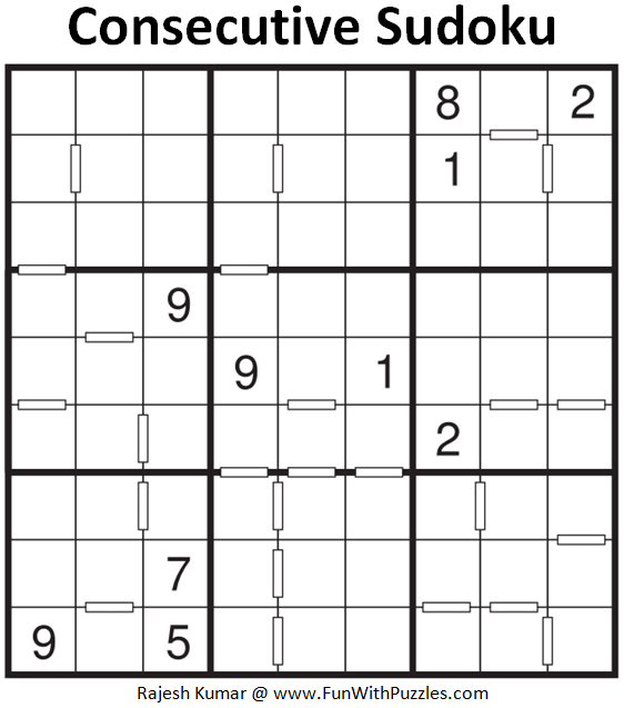 Consecutive Sudoku Puzzle (Fun With Sudoku #375)