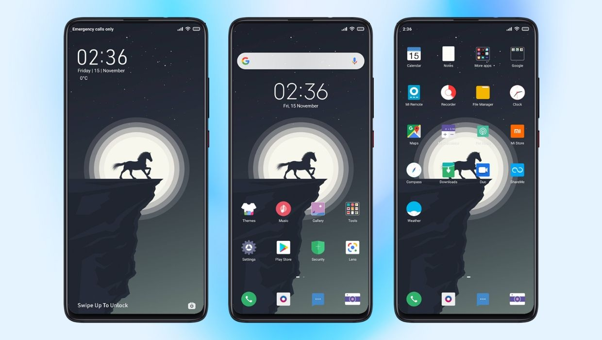 Minimal Night 2.0 MIUI Theme