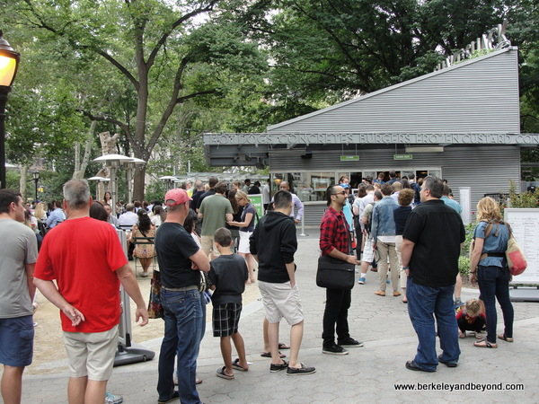 order line at Shake Shack in Madison Square Park in NYC's Flatiron District
