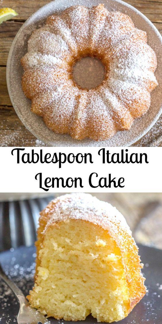 Tablespoon ítalían Lemon Cake