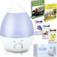 Aennon: Premium Cool Mist Ultrasonic Humidifier w/ Aroma Essential Oil Diffuser