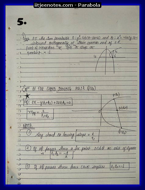 parabola notes5