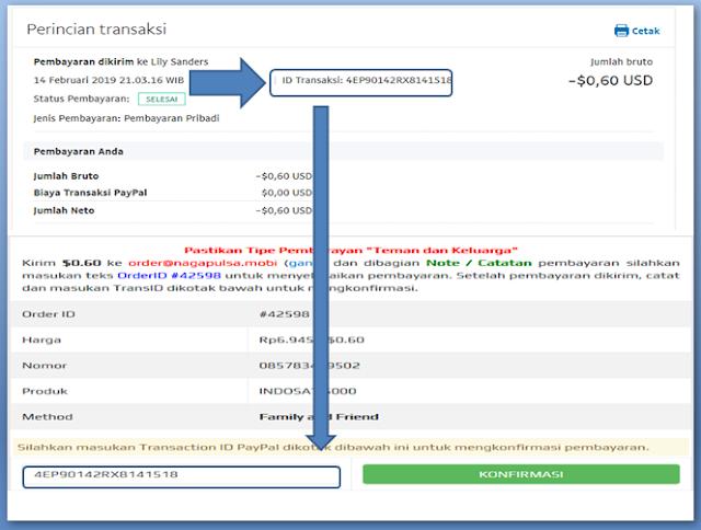 Cara membeli pulsa secara online bayar pakai paypal