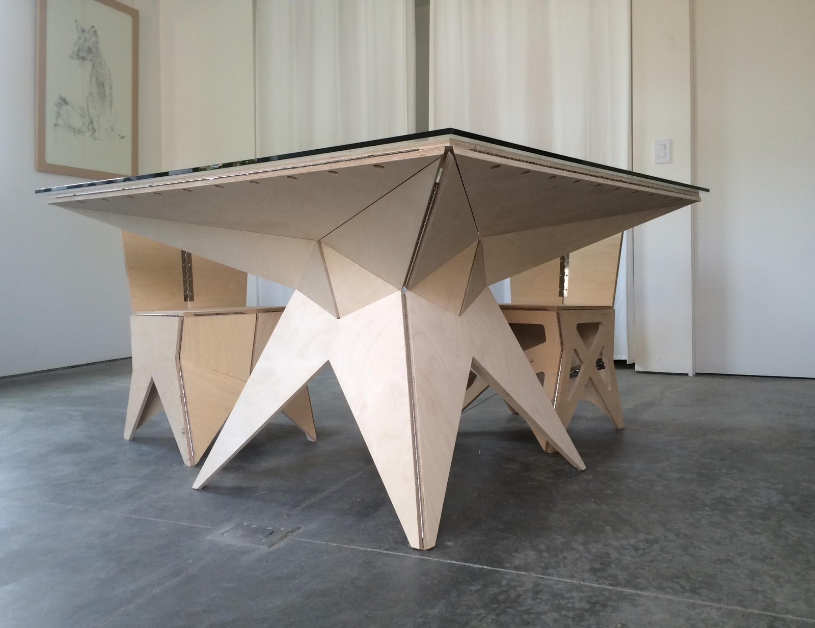 Posts and Reflections: Origami Table - photo#24