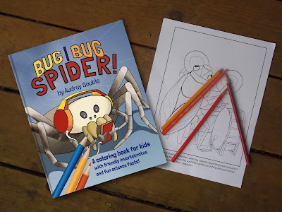 Bug, Bug, Spider: a coloring book for kids