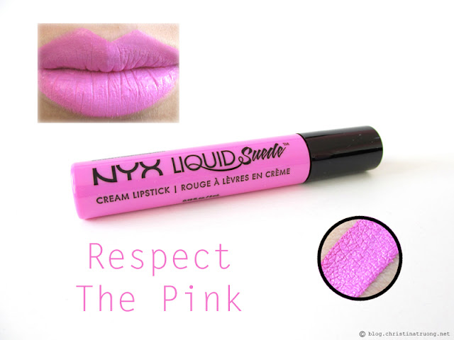 NYX Liquid Suede Cream Lipstick Review Swatches LSCL13 Respect The Pink