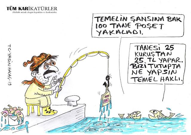 poşet yasası karikatür