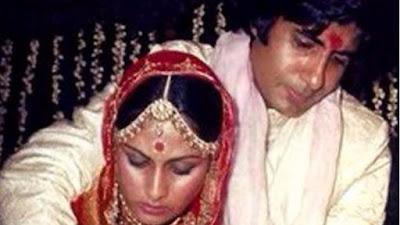 जया अमिताभ बच्चन शादी का एक रस्म निभाते हुए