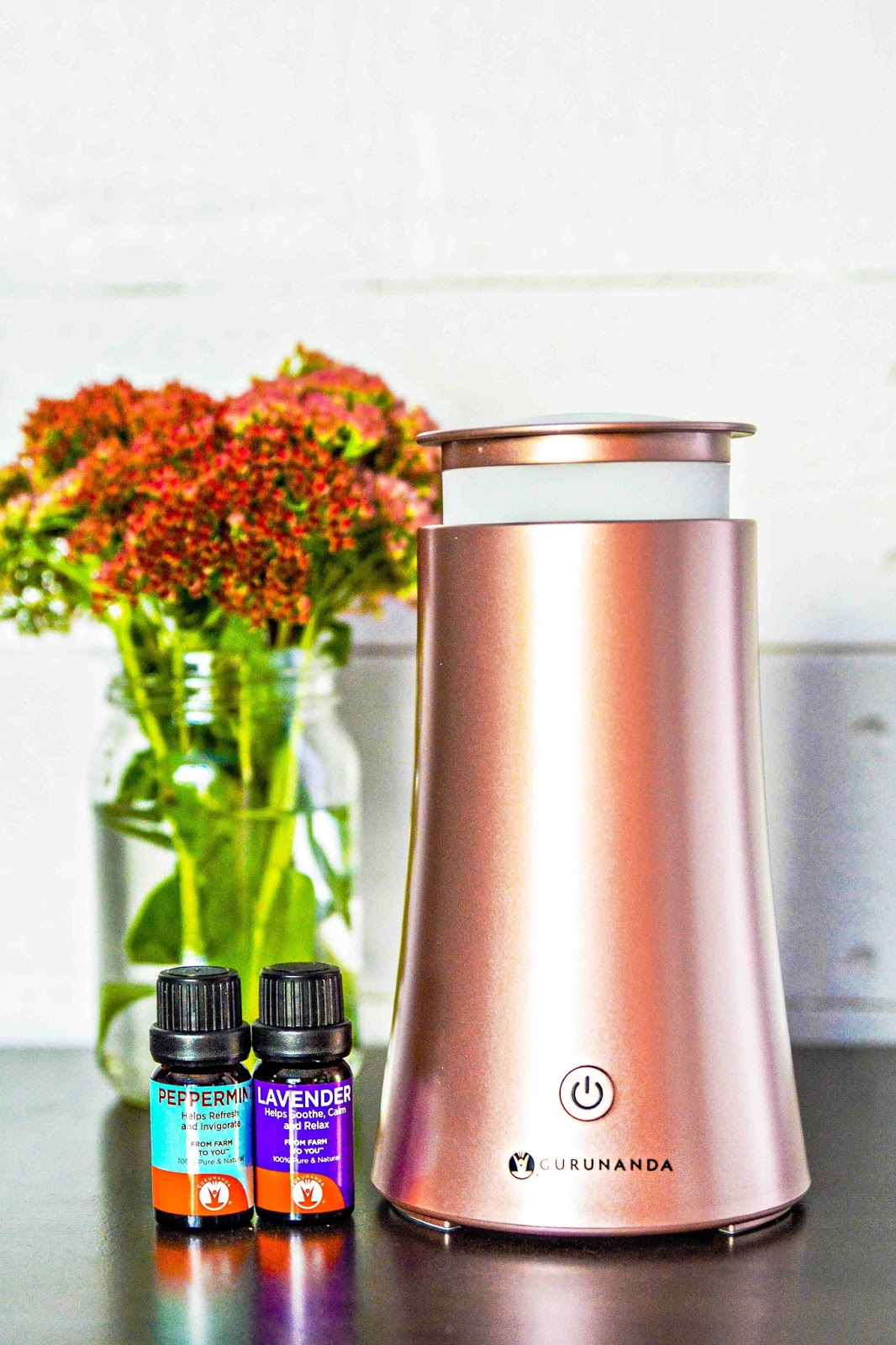 GuruNanda Rosegold Oil Diffuser Tower