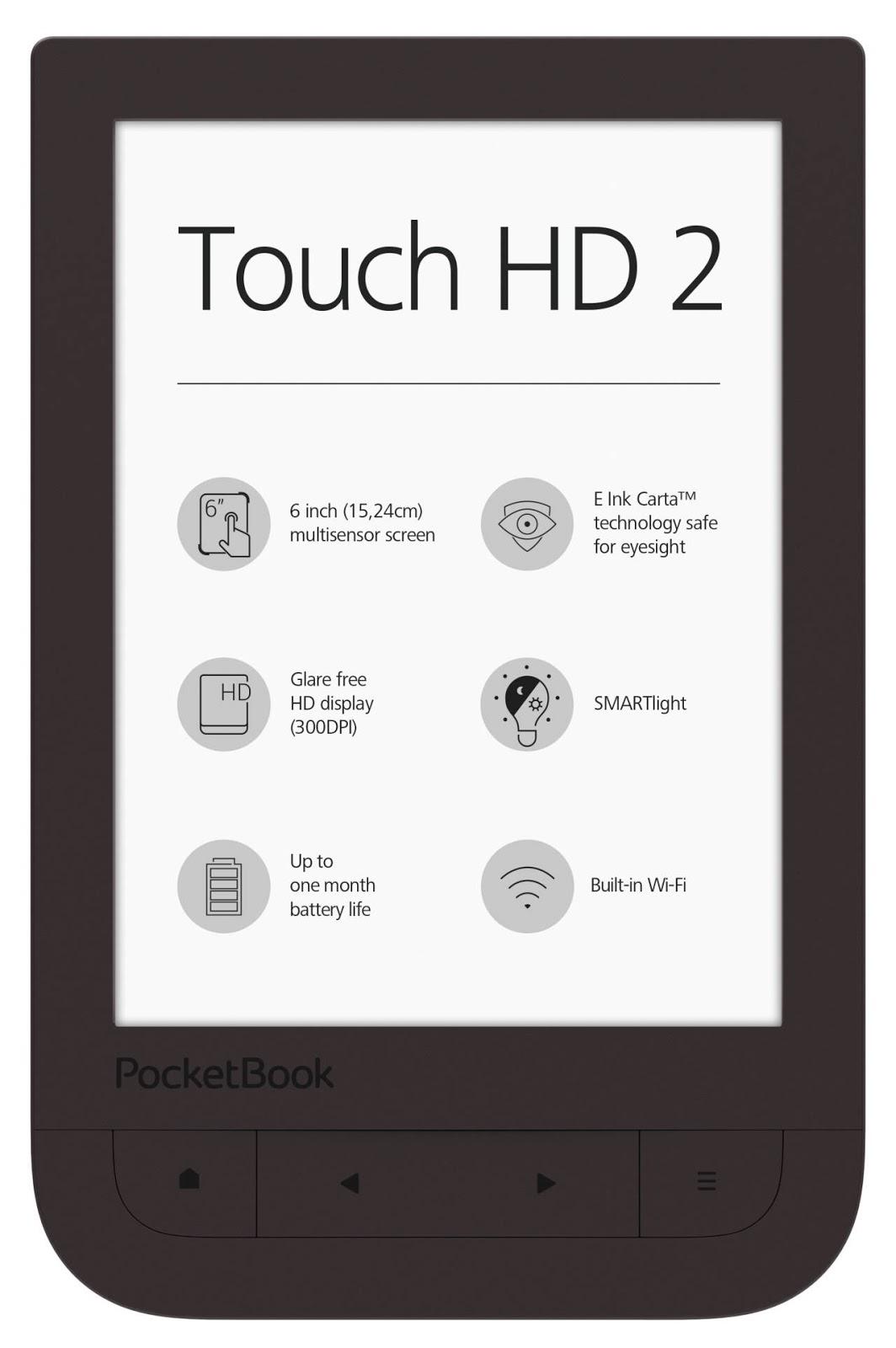 PocketBook Touch HD 2 z brązową obudową i regulowaną barwą podświetlenia