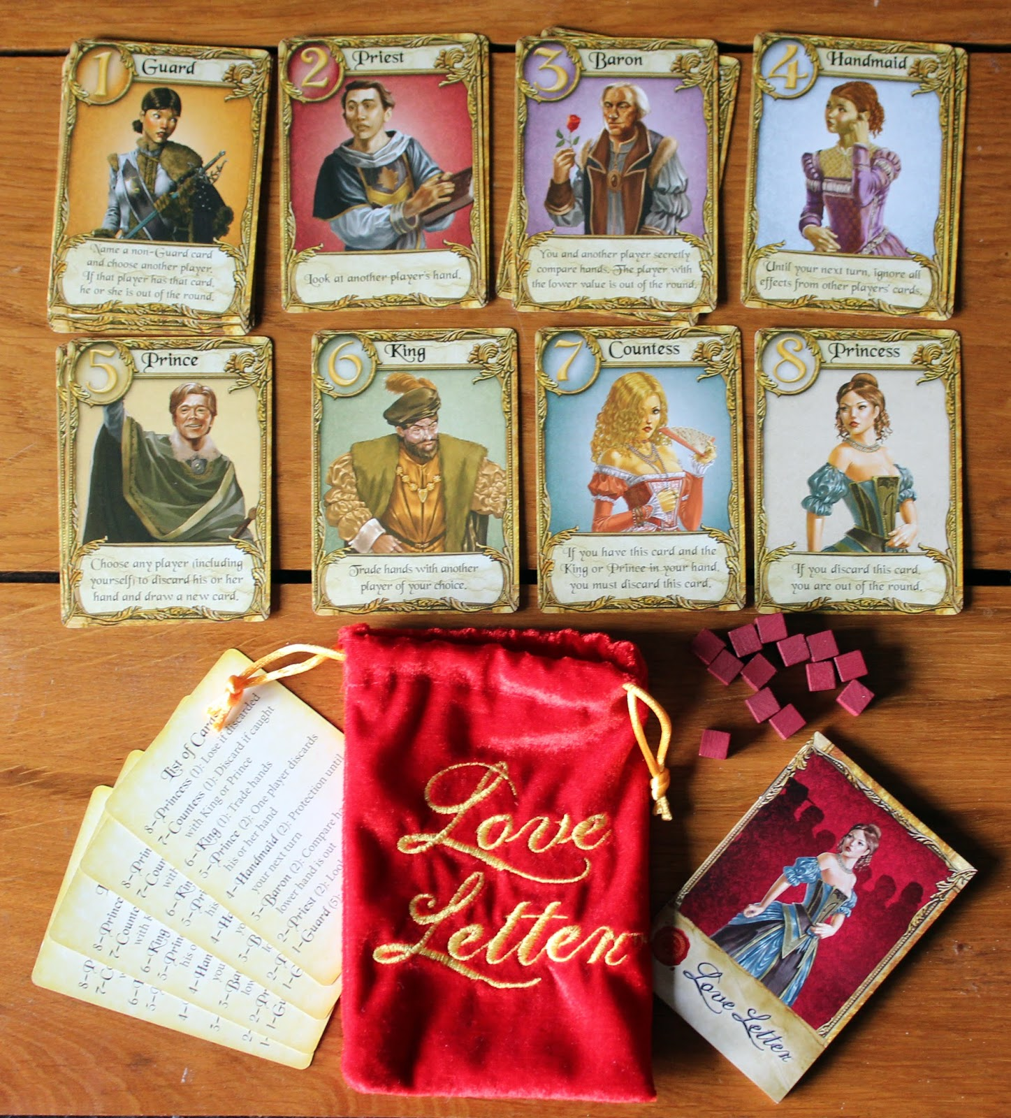 Random Nerdery Cardboard Love Letter Batman Card Game Giveaway