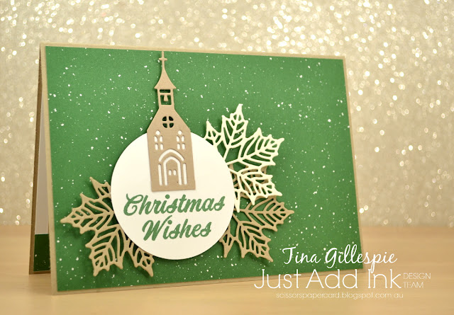 scissorspapercard, Stampin' Up!, Just Add Ink, Hometown Greetings, Seasonal Layers, Merry Mistletoe, Be Merry DSP