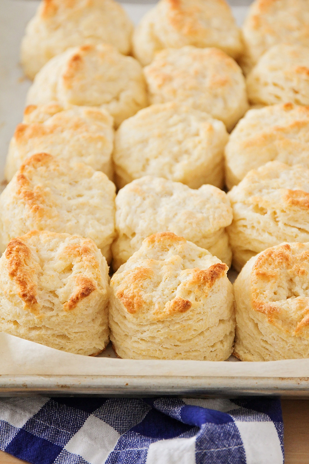 These flaky buttermilk biscuits are so tender and buttery, and perfectly delicious!