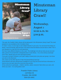 Minuteman Library Crawl, Wednesday, August 1