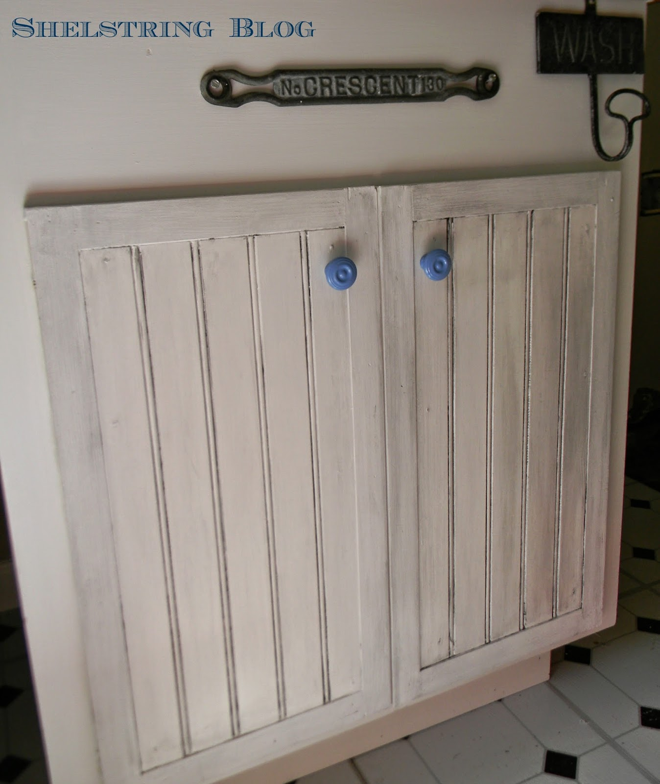 Shelstring Blog: No Fail Painted Cabinet Staining Technique