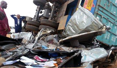 truck kills couple sagamu ogun state