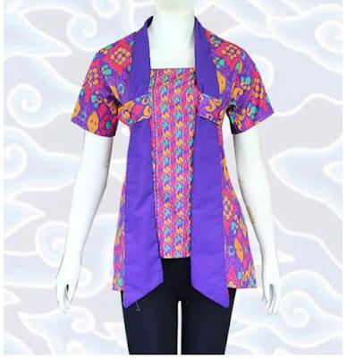 model baju jumputan palembang modern