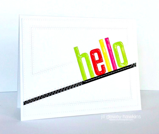 Stitched Cover-Up Companion - Diagonal Die-namics - Jill Dewey Hawkins #mftstamps