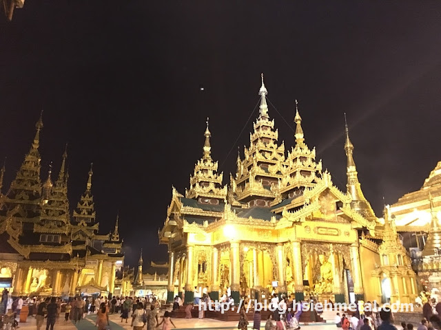 Shwedagon Pagoda Night View 2017