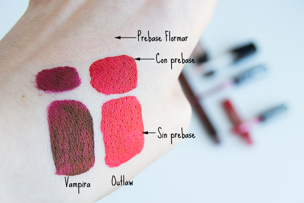 Everlasting Liquid Lipstick de Kat Von D, prebase labial Flormar