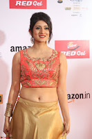 Harshika Ponnacha in orange blouuse brown skirt at Mirchi Music Awards South 2017 ~  Exclusive Celebrities Galleries 096.JPG