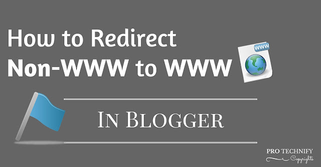 Redirect non-WWW to WWW in blogger