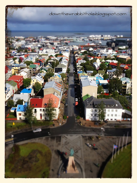 tilt-shift photography, churches of Iceland, Reykjavik city view